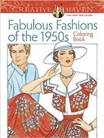 Creative Haven Fabulous Fashions of the 1950s Coloring  Book - Artwork by Mingh-Ju-Sun