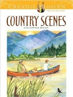 Creative Haven Country Scenes Coloring Book - Artwork by Dot Barlowe