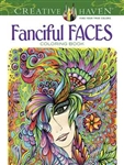 Fanciful Faces Coloring Book - Creative Haven, Artwork by Miryam Adatto