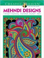 Mehndi Designs Coloring Book - Creative Haven, Artwork by Marty Noble