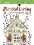 Whimsical Gardens Coloring Book - Creative Haven, Artwork by Alexandra Cowell