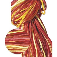 Hand Dyed Silk Strands - Yellow, Red & Orange