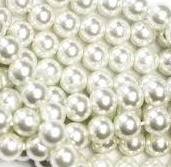 12mm Chinese Acrylic Pearls - White