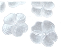Dyable Frost White Lucite Flower Bead - #1631