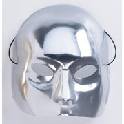 Silver Half Face Mask