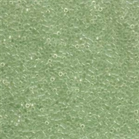 DB1404 Transparent Pale Green Mist - Miyuki Delica Seed Beads - 11/0