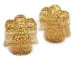Angel Pony Beads - Gold Glitter
