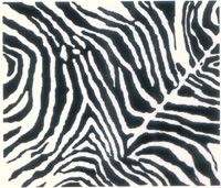 Printmakers Rubber Stamps Zebra