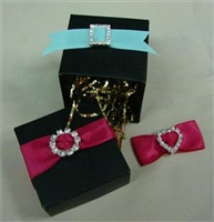 Rhinestone Mini Buckles / Ribbon Sliders