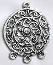 Sterling Silver Chandelier Pendant - Circle