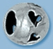 Sterling Silver 6mm Large Hole Bead with Hearts