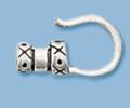 Sterling Silver End Cap with Hook - 2mm