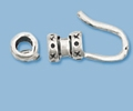 Sterling Silver End Cap with Hook - 3mm