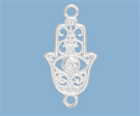 Sterling Silver Single Strand Hamsa Connector