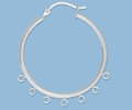Sterling Silver Hoops with Loops - 30mm, 7 Loops