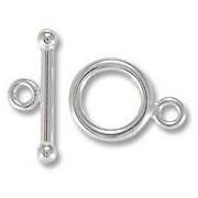 Sterling Silver Smooth Toggle - 12mm