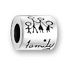 Sterling Large Hole Bead - Family
