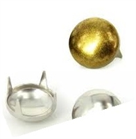 Domed Pearl Metal Studs - 60ss / 12mm