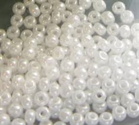 Taiwanese Size 6/0 E Bead - Opaque White Pearl #241