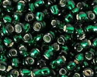 Taiwanese Size 6/0 E Bead - Silver Lined Emerald # 27