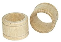 Wood Napkin Ring - Grooved