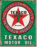Texaco Oil WeatheredTin Signs
