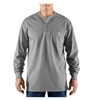 100237-051 Carhartt Work Henley Shirt - Light Grey