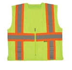M7048C-2  2W Class 2 Safety Vest - Lime