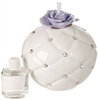 Italian Bone China Lilac Flower Diffuser with Swarovski Accents