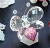 12556 Crystal / Murano Pink Butterfly