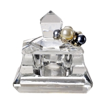 Italian Crystal Trinket Box With Pearls