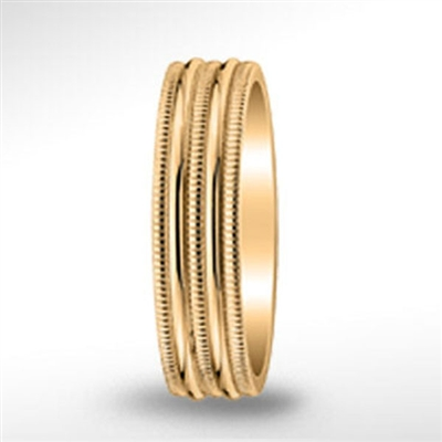 18k 7mm Yellow Gold Band