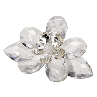 Authentic Italian Crystal louts Flower with Swarovski Flower Center