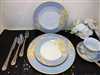 49 PCS DINNER SET,   BLUE  DESIGN WITH GOLD