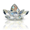 Enhance your Home with sophistication and elegance thanks to the stunning Italian 24% Crystal Waterlily Lotus with Prism Colors highlights with Murano bud in the center. As beautiful as in nature, this lotus flower figurine gleams in clear crystal with a