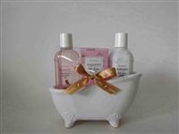 White Ceramic 3pc Bathtub Gift Set