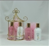 4pcs Bath Gift Set in Golden Caddy