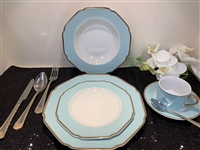 49 PCS DINNER SET, BLUE MODERN DESIGN
