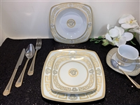 49 PCS DINNER SET, GOLD GREEK DESIGN