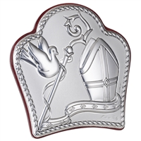 This elegant Religious Icon by Sima Creations features the beauty and shine of 925 Silver while exuding a lighthearted look with its abstract shape. This unique and spirited piece is a part of the extensive works in the argento line of Sima collectibles.