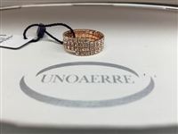 UNOAERRE by UNOAERRE Three Strand Ring in Rose Brass