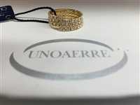 UNOAERRE by UNOAERRE Three Strand Ring in Gold Brass