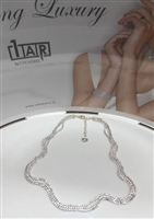 UNOAERRE by UNOAERRE Three Strand Necklace In Silver Brass