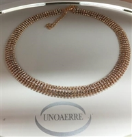 UNO AERRE by UNO AERRE Multi-strand Rose Brass Necklace