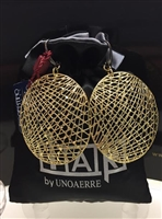 Fashion Jewelry by UNOAERRE 18kt Gold Plated Mesh Earrings