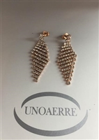 UNO AERRE by UNO AERRE Rose Brass Earrings