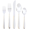 Sterlingcraft® High-Quality, Stainless Steel 72pc Flatware and Hostess Set with Gold Trim
