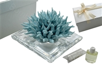 DEBORA CARLUCCI TURQUOISE CORAL PERFUME DIFFUSER WITH CRYSTAL BASE