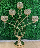 Gold Candelabra centerpiece