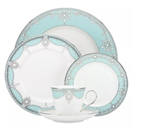 49 PCS DINNER SET, Light Blue DESIGN
